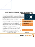 MobileYouth :Insights Into Youth Mobile Trends and Mobile Behavior