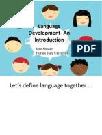 Language Development- An Introduction