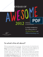 The 2012 Calendar of Awesome First 20 Pages