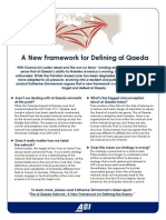 A New Framework for Defining Al Qaeda One Pager