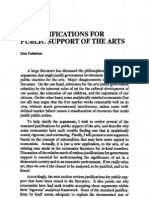 On the Justification for the Public Support of Arts_Fullerton