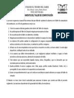 REGLAMENTO DEL TALLER DE COMPUTACIÓ1