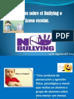 Presentaciòn sobre el Bullyn alumnos del Ruben Dario.