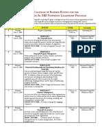 2009 Nonprofit Interns Schedule