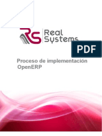 Proceso de Implementacion OpenERP Cliente