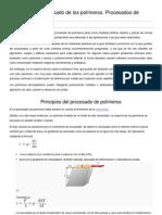 Principios del procesado de los polímeros