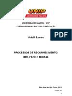 Processo de Reconhecimento Biometrico