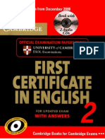 First Certificate in English 2 for Updated Exam With Answers [Cambridge]