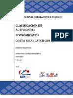 Clasificacion_Actividad Economica_Costa Rica 2011 - Vol I