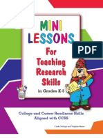 Mini Lessons for Teaching Research Skills in Grades K-5 CCSS Edition Sample