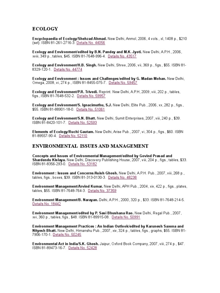 Books on ecology conservation biology sustainability fandeluxe Images