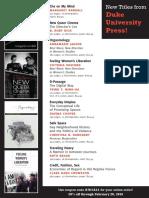 Duke University Press Program Ad for 2013 National Women's Studies Association Meeting