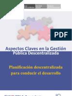 Planificacion Descentralizada Para Conducir El Desarrollo