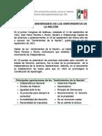 Efemérides, independencia de México