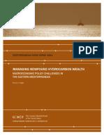 Managing Newfound Hydrocarbon Wealth