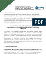 Normas Do Processo Seletivo Ic 2013-2014