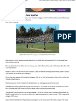 Napier to Host India-Tour Opener - Yahoo! Cricket India