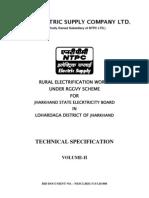 Technical Specification Lohardaga
