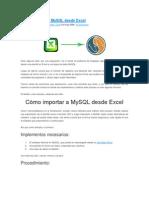 Cómo importar a MySQL desde Excel