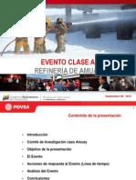 Informe de Pdvsa sobre explosión en la Refinería de Amuay