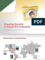 Ensuring Security in Oracle r12 Financials