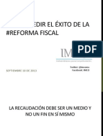 cómo medir exito reforma fiscal imco