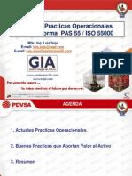 Buenas Practicas Operacionales Con La Norma PAS 55 - IsO 55000 Asset Management