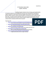AP Chemistry Organic Chem Study Guide