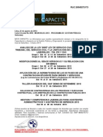 Seminarios de Setiembre y Octubre - 2013