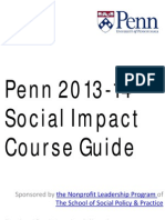 2013-2014 Penn Social Impact Course Guide
