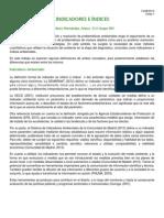 Martínez Hernández, Arturo - Indicadores e índices