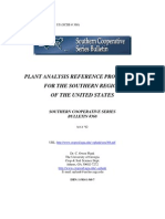 Plant Analysis Reference Procedures for the Southern Region of the United States