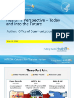 Health IT Perspective - Today and Into the Future