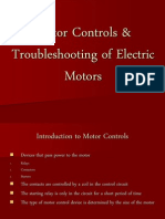 Motor Controls Troubleshooting of Electric Motors