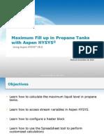 Thermo-007H Maximum Fill Propane Tank