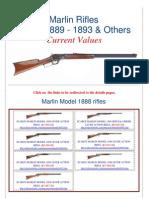 Marlin Rifles 1888 - 1889 - 1893 Current Values