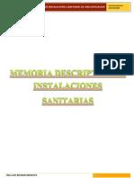 Memoria Descriptiva de Instalaciones Sanitarias