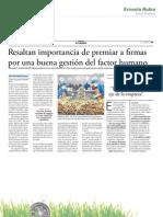 2013-09-07 Resaltan importancia de premiar a firmas por una buena gestión del factor humano (El Comercio).pdf