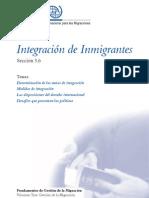 Intregración de los inmigrantes, Organización Internacional para las Migraciones