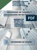 Evaluacion de proyectos (Tamaño y localización)