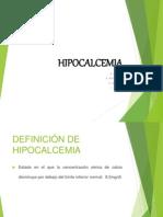 presentasion de hipocalcemia