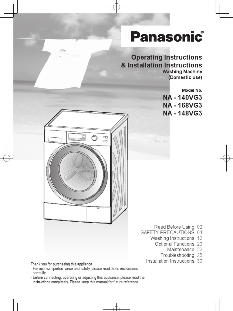 Washing Machine Manual Laundry Panasonic Wiring Diagram Pdf