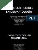Corticoterapia en Dermatologia