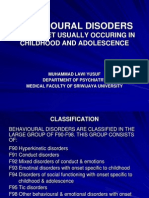 Behavioural Disorders
