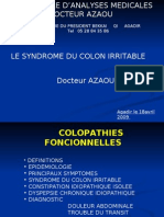 LE SYNDROME DU COLON IRRITABLE