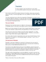 Islam Fact Sheet for Teachers