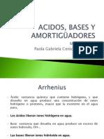 ACIDOS, BASES Y AMORTIGÜADORES