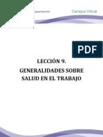 Leccion 9. Generalidades Sobre Salud en El Trabajo Prodeco