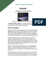 Kabaddi Completo - 17 Pags