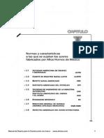 Normas y Carateristicas Que Sujetan a Los Aceros Fabricados Por Los Altos Hornos de Mexico